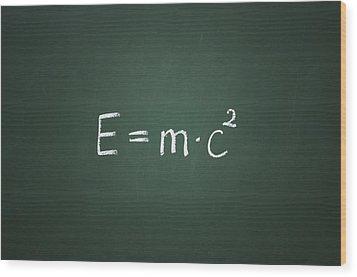 Einsteins Formula Wood Print by Chevy Fleet