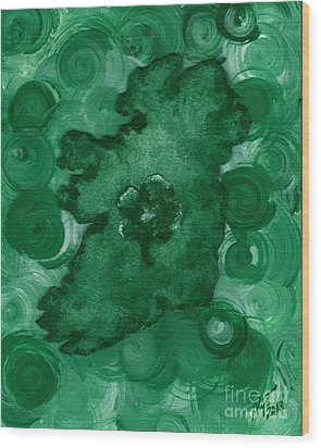 Eire Heart Of Ireland Wood Print by Alys Caviness-Gober