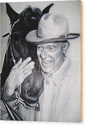 Eisenhower And Doodle De Doo Wood Print