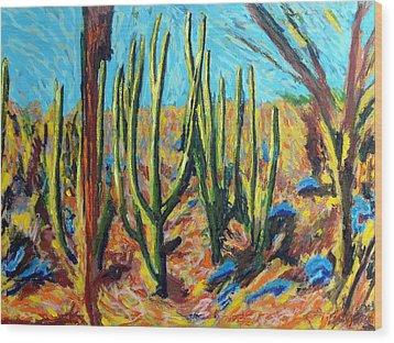 El Bosque Del Desierto Wood Print