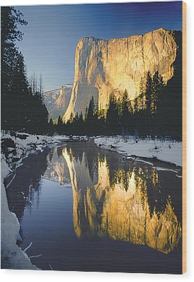 2m6542-el Cap Reflect Wood Print