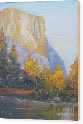 El Capitan Light Wood Print by Carolyn Jarvis
