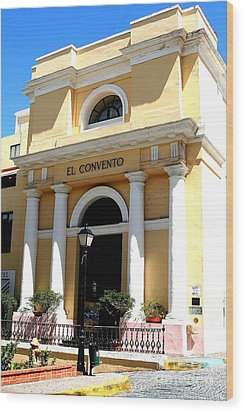 El Convento Hotel Wood Print by The Art of Alice Terrill