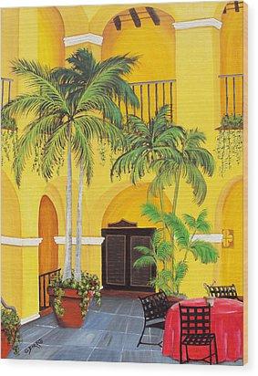 El Convento In Old San Juan Wood Print by Gloria E Barreto-Rodriguez