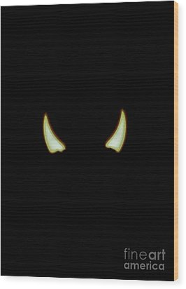 Wood Print featuring the photograph El Diablo by Angela J Wright