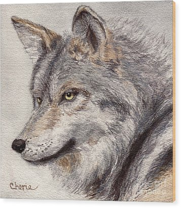 El Lobo Wood Print by Vikki Wicks