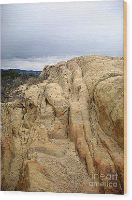 El Malpais Sand Bluff 3 Wood Print