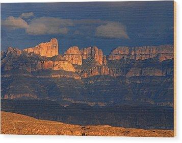 El Pico And Sierra Del Carmen Wood Print