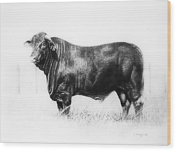Wood Print featuring the drawing El Santa Gertrudis by Noe Peralez