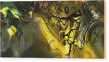 Wood Print featuring the digital art Elaboration Of Day Into Dream by Richard Thomas