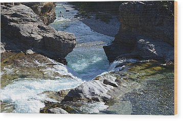 Elbow Falls Wood Print by Cheryl Miller