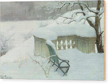 Elbpark In Hamburg Wood Print by Fritz Thaulow