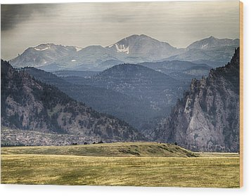 Eldorado Canyon And Continental Divide Above Wood Print by James BO  Insogna