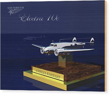 Wood Print featuring the digital art Electra 10e by John Pangia