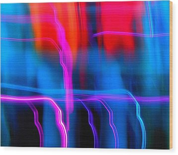 Electric Dance Wood Print