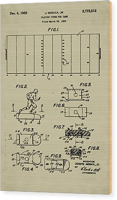 Electric Football Patent Wood Print by Bill Cannon