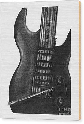 Electric Guitar Wood Print