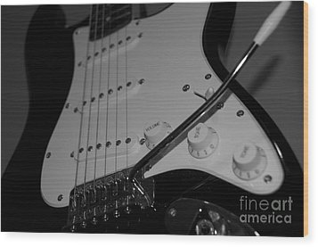 Electric Guitar  Wood Print