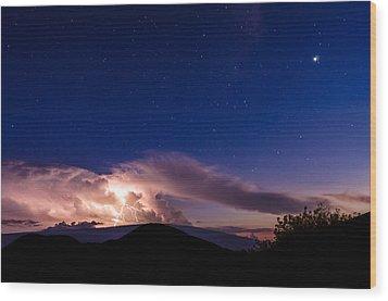 Electric Heavens 1 Wood Print
