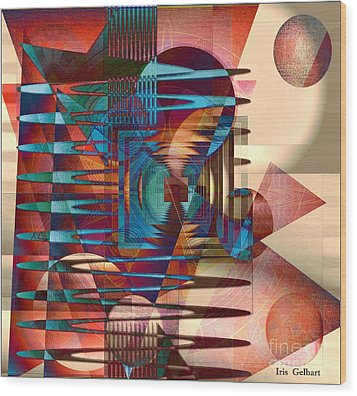 Electric Wood Print by Iris Gelbart