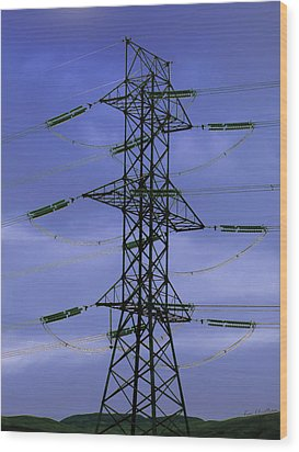 Electric Moment Wood Print