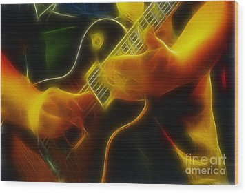 Electric Slide Fractal Wood Print by Gary Gingrich Galleries