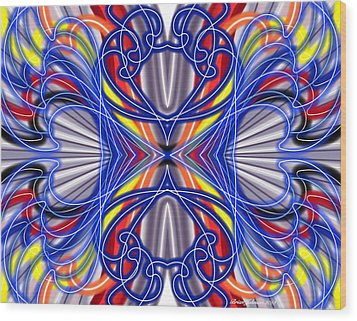 Electric Wave Wood Print by Brian Johnson