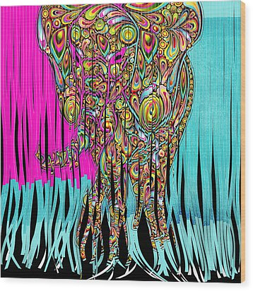 Elefantos - Cr01ac02 Wood Print by Variance Collections