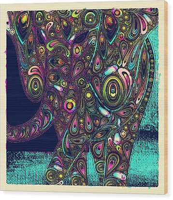 Elefantos - Ptjs01a Wood Print by Variance Collections