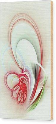 Elegance Wood Print by Anastasiya Malakhova