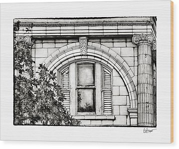 Elegance In The French Quarter In Black And White Wood Print by Brenda Bryant