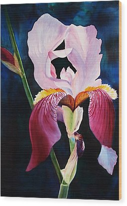 Wood Print featuring the painting Elegance by Marilyn Jacobson