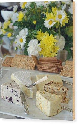 Elegant Cheese Buffet Wood Print