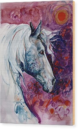 Elegant Horse Wood Print by Mary Armstrong