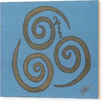 Element Of Air In Cy Lantyca Wood Print