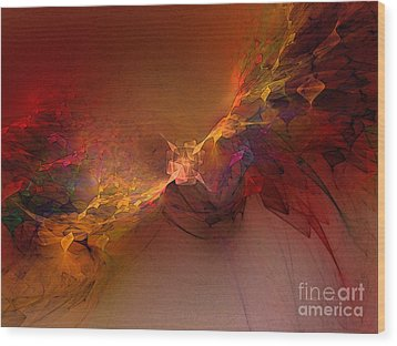 Elemental Force-abstract Art Wood Print by Karin Kuhlmann