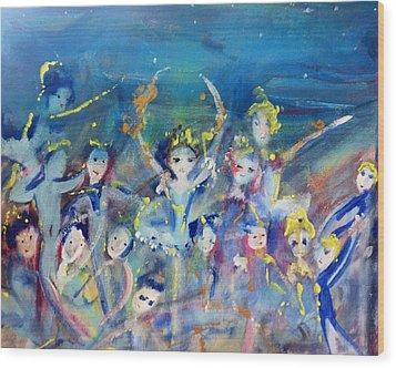 Elementals On The Beach Ballet Wood Print by Judith Desrosiers