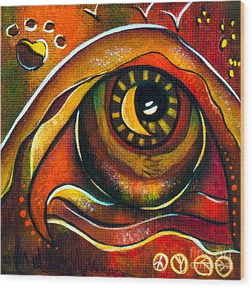 Elementals Spirit Eye Wood Print