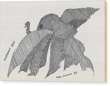 Elephant Bat Wood Print by Fred Jinkins