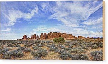Elephant Butte Wood Print by Chad Dutson