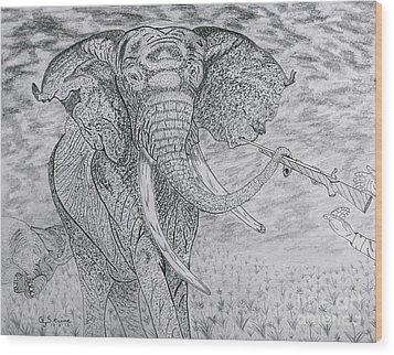 Elephant Gun Wood Print by Gerald Strine