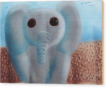 Animalart Elephant Wood Print by Joshua Maddison