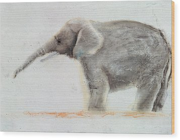 Elephant  Wood Print by Jung Sook Nam