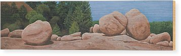 Elephant Rocks Wood Print by Garry McMichael