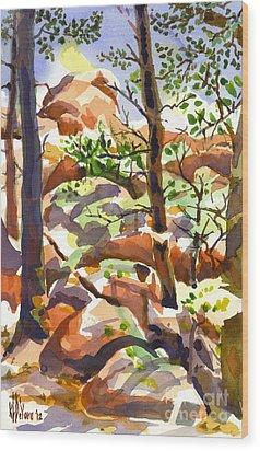 Elephant Rocks Revisited IIb Wood Print by Kip DeVore