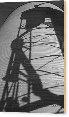 Elevator Shadow Wood Print