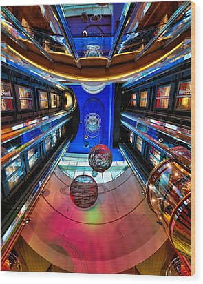 Elevators Aboard The Royal Caribbean Adventures Of The Seas Wood Print