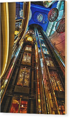 Elevators On The Royal Caribbean Adventures Of The Seas Wood Print