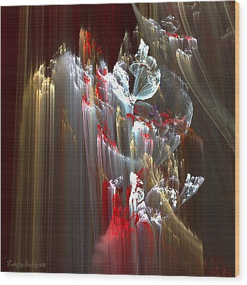 Eleven Kilometers Below The Surface. 2013 70/70 Cm.  Wood Print by Tautvydas Davainis