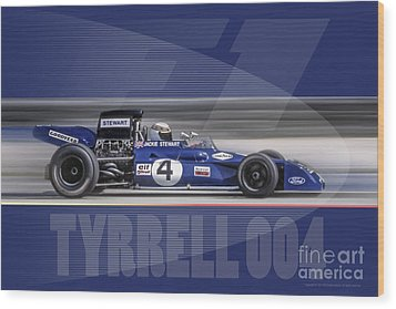 Elf Team Tyrrell 004 Wood Print